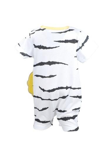 Mininio Beyaz Desenli Lion Tulum (0-18ay) Beyaz Desenli Lion Tulum (0-18ay) Beyaz